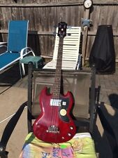 Epiphone EB-0 Electric Bass Guitar with Gibson padded gig bag