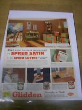 Original 1957 Glidden Paint Magazine Ad