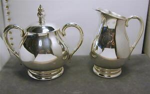 Royal Danish Sterling Creamer & Sugar w/ Lid Set HEAVY International Silver