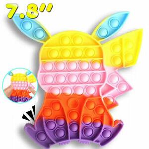 20cm Pika Pop push Pokeball Push Bubble Fidget Sensory Toys Stress Relief Toy UK