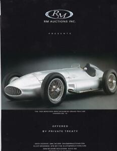 2001 RM Auction Print-Ad /  Great Art/ 1939 Mercedes-Benz W154/M163 F1 Car