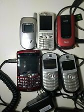 6 Cellphone Lot Blackberry 2 Trac Phone LG Flip Phone acessories
