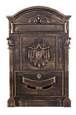 Briefkasten, Wandbriefkasten englisch, nostalgisch 47cm  LB-001-Long Bronze