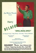 """Harry Belafonte """"SING, MAN, SING"""" Alvin Ailey / Mary Hinkson 1956 FLOP Flyer"""