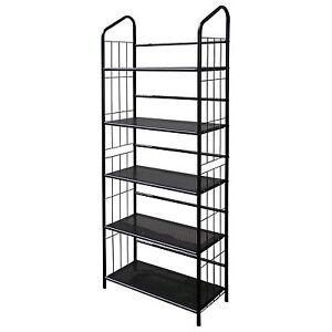 Metal Outdoor / Indoor Plant Stand - Black Finish - 5 / 4 / 3 Tier Shelving Unit