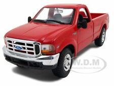 1999 FORD F-350 SUPER DUTY PICKUP TRUCK RED 4X4 1:27 DIECAST MODEL  MAISTO 31937