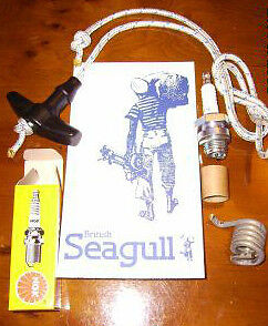 British Seagull Outboard Emergency Spares kit Cord Plug And Spring New