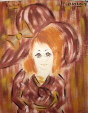Francois, Paris Vintage 1960's, Original Watercolor Girl French