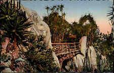 Monte Carlo Monaco 1958 Jardin Exotique Garten Parkanlage Park Brücke gelaufen