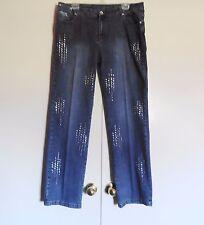 Platinum Plush Women's Bling Denim Blue Jeans 17