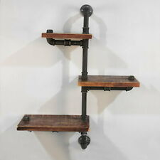 Artiss Display Shelves Bookshelf Pipe Shelf Rustic Industrial Floating Wall Shel