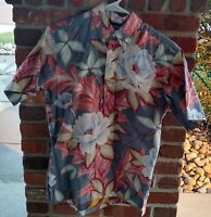 Vintage 80s 90s Reyn Spooner Reverse Print Pullover Hawaiian Shirt Floral Print