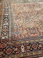 "Antique  handwoven Sultanabad allover design size 11""x12 circa 1900"