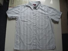 CCC Canterbury White/Pale Blue/Grey Cotton Shirt, Small, 44 Inch Chest.