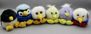 Lot of 6 Puffkins Tags  Wonderful Plush SWIBCO Birds Adorable