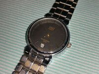 Retro Vintage Q&Q BY CITIZEN JAPAN MEN'S CASUAL WATCH QUARTZ and BAND as is