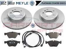FOR BMW 5 SERIES F10 518D 520D FRONT MEYLE GERMANY PD COATED BRAKE DISCS PADS