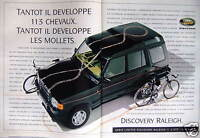 PUBLICITÉ 1995 LAND-ROVER DISCOVERY RALEICH - ADVERTISING