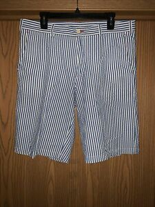 MEN'S PAUL & SHARK YACHTING SEER SUCKER SHORTS US SIZE 36 ! MADE IN ITALY ! MINT