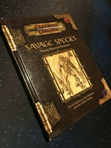 Savage Species Dungeons & Dragons 3.5 Wizards of the Coast
