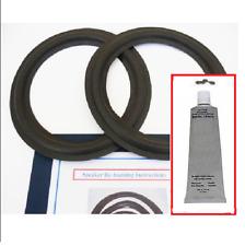 "10"" INCH WOOFER SPEAKER FOAM EDGE & GLUE KIT JBL 118H 125A 127H 127H-1 310G 410G"