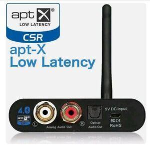 TSdrena HEM-HC-BTRATX Bluetooth Receiver apt-X Low Latency Output, NEW Sealed!!!