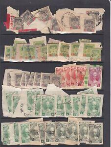 Malaya Kelantan stamps on piece and singles as displayed.
