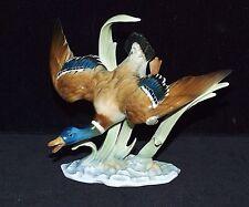 Porzellanfigur Vogel, fliegende Ente, H. Achtziger, Hutschenreuther
