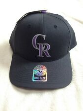 Colorado Rockies MLB Baseball Cap - Adjustable One Size - Black - Men's NWT