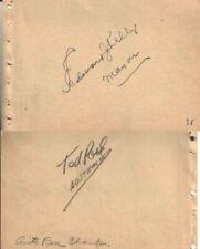 Edward J. Kelly / 1930s Race Car Champ Autographed Album Page Chicago Mayor D.50