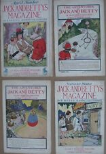 Jack and Betty's Magazine - Vintage 1914/1915/1916 Booklets Lot (4)