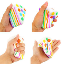 Jumbo Squishy Rainbow Slow Rising Cake Scented Restore Squeeze Chrismas Toy Gift