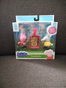 Peppa Pig Emily Elephant Gardening Day 3pc Figure Set Jazwares Nickelodeon NEW