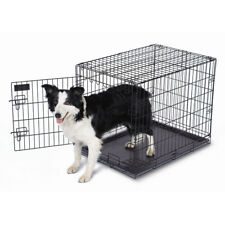 "Petmate 18""W X 21""H X 24""L Black Collapsible Single Lock Animal Training Crate"