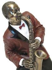 Los músicos de jazz saxofón alto escultura personaje saxophonist * le monde du jazz * 20045g