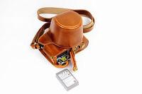 leather camera case bag for Olympus OM-D E-M10 Mark II, EM10 II battery-access