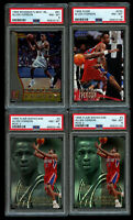 4 Lot 1996-97 Fleer Flair Bowman's Best Allen Iverson Rookie PSA 8 NM/MT+