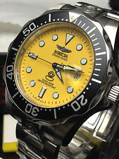 INVICTA #3048 PRO DIVER COLLECTION GRAND DIVER AUTOMATIC MENS YELLOW SIVER WATCH