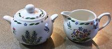 Kent Pottery Botanical Sugar & Creamer Set Herbs