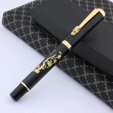 Dikawen 899 Fountain Pen, Golden Dragon & Plum Blossom, Fine Nib, w/ Converter