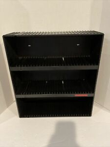 Laserline 90 CD Storage Organizer Rack Holder Stand Black Wall Mount Table CD90