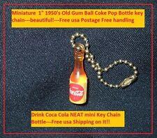 Vintage Coca Cola Soda Pop 1950's Old Coke Bottle Bubble Gum Prize Key Chain