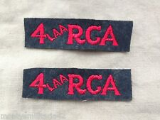 Original WW2 4th Light Anti Aircraft Royal Canadian Artillery BD Shoulder Titles