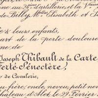 Thibault De La Carte De La Ferte-Senectere Ligueil 1888