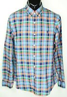 Polo Ralph Lauren Men's Size L  Orange Blue Green Plaid Button Down Shirt