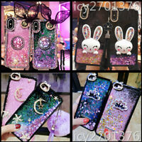 Dynamic Liquid Glitter Quicksand Soft back Phone Cases For iPhone Samsung Huawei