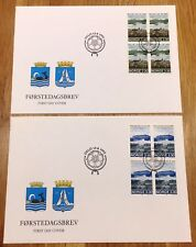 Norway Post FDC 1992.06.12. Molde & Kristiansund City Jubilees - Block of Four
