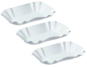 KU51 Pommesschale weiß 9 x 14 x 3 cm Pappschalen Currywurst Imbiss Grill Schalen
