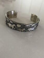 Shannon Bellson Zuni Sterling Silver Cuff Bracelet