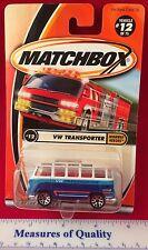 Matchbox VW Van Transporter #12 of 75 Highway Heroes MIP 1:64 Die Cast Mattel b1